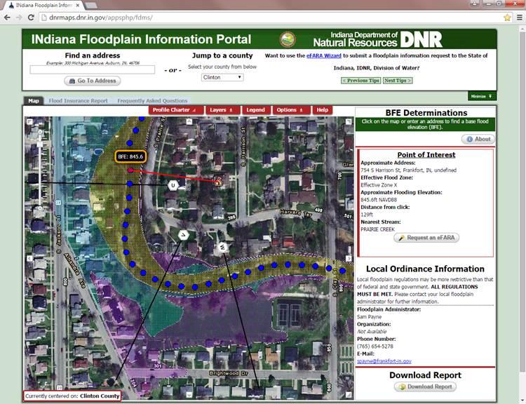 INdiana Floodplain Information Portal